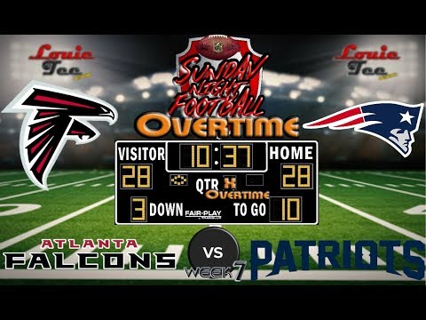 2017 LIVE! NFL Analysis | Falcons vs. Patriots WK 7 | SNF OVERTIME #LouieTeeLive