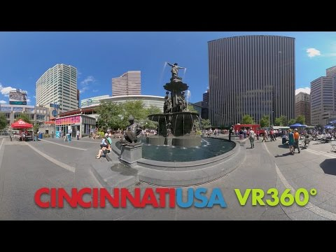 Tour Cincinnati USA in 360° Virtual Reality