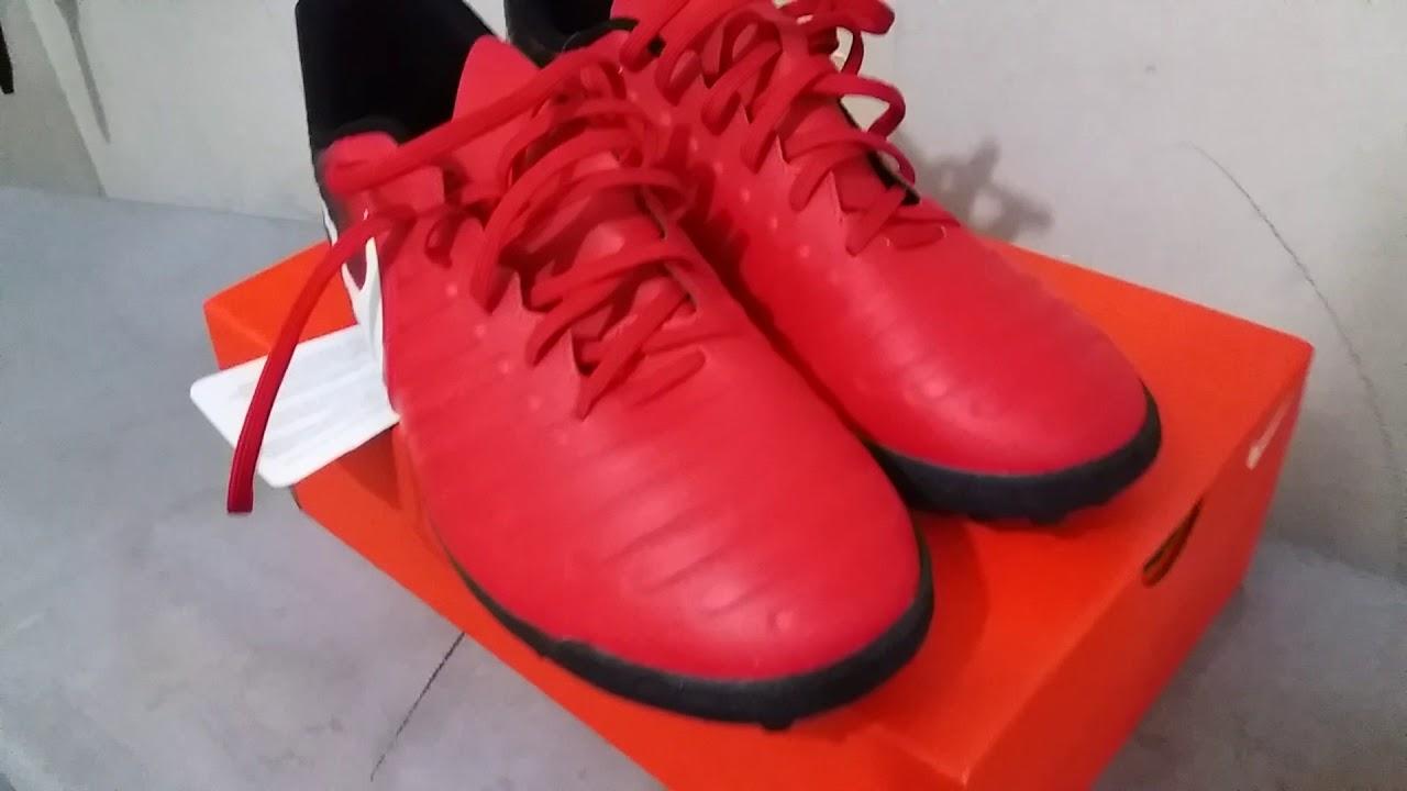 ac7e9cc24 Unboxing Chuteira Nike Tiempo X FIRE RIO IV - YouTube