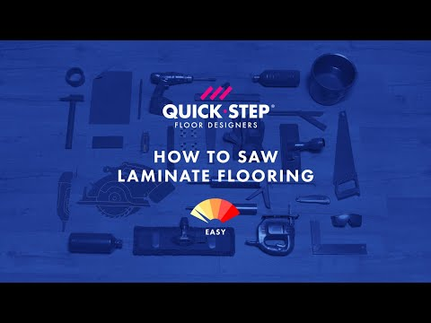 How To Saw Or Cut Laminate Flooring Tutorial By Quick Step Youtube