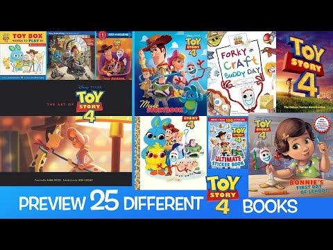 Take A Peek At 25 Different Toy Story 4 Themed Books | The Art Of Toy Story 4 | Storybooks & More
