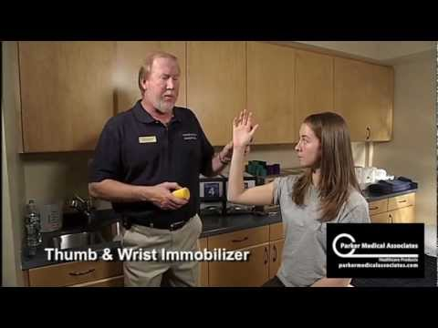 Thumb and Wrist Immobilizer Splint Technique