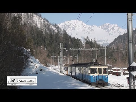 2013 [HD] MOB Saanen To  Montbovon,  Filmed During Stunning Winter Weather