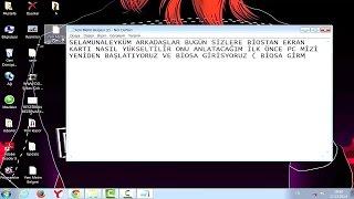 Ekran Kartı Yükseltme ( Ekran Kartı GB Arttırma -  graphics card upgrade )