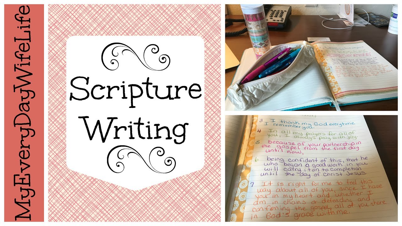 scripture writing