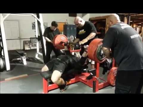 Denis Knyazev.bench press 350kg (770 lb)