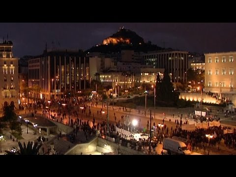 Protests in Greece enter second day