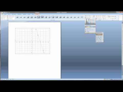 Video 1:Make A Graph In Microsoft Word For Math Problems