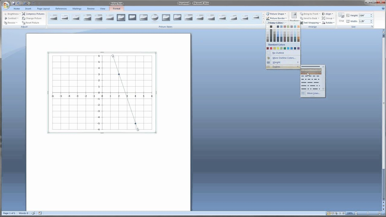 Drawing Lines In Microsoft Word : Video make a graph in microsoft word for math problems