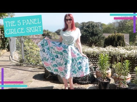 A SpoonFlower Super Fans Guide To Making A Five Panel Circle Skirt