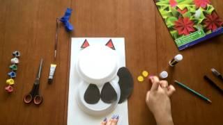Делаем Кота из пластиковых тарелок?! We do cat. Hand made.For children