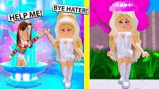 I Threw My Hater Into The Fountain And Got The Valentinesday HALO! (Roblox)