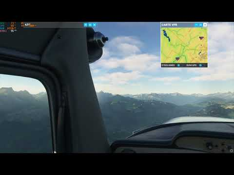 Microsoft Flight Simulator PC / Albertville - Annecy / Cessna 152 / 1080p