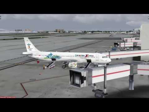 Airbus A320-211 Miami (KMIA) to Ottawa (CYOW) P3D v3.4
