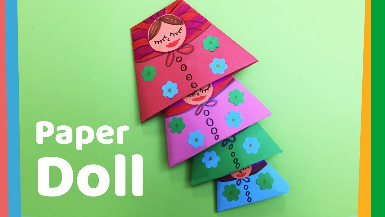 How To Make Paper Doll Easy Nested Doll For Kids Youtube