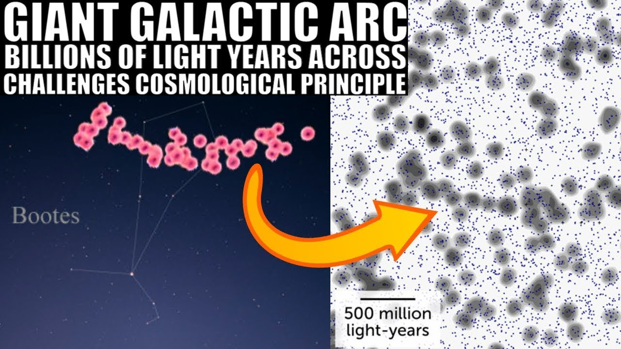 Giant Arc 3.3 Billion Light Years Long That Shouldn't Really Exist