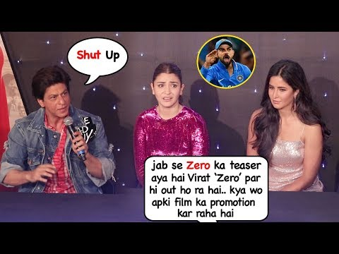 Shahrukh Khan Saves Anushka From EMBARASSING Question On Virat Kohli's Recent Form @Zero Event