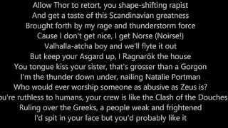 Zeus vs Thor Lyrics Epics Rap Battles Of History