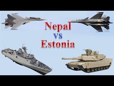 Nepal vs Estonia Military Comparison 2017