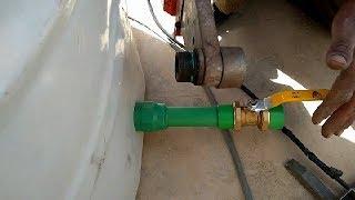 كيفية تركيب  2 خزان مياه على خط واحد