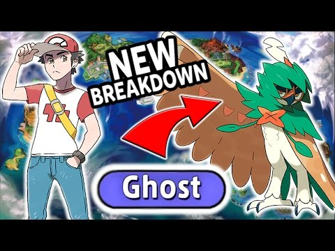 Rowlet Becomes GHOST TYPE!! - New Trailer Breakdown - Pokemon Sun and Moon