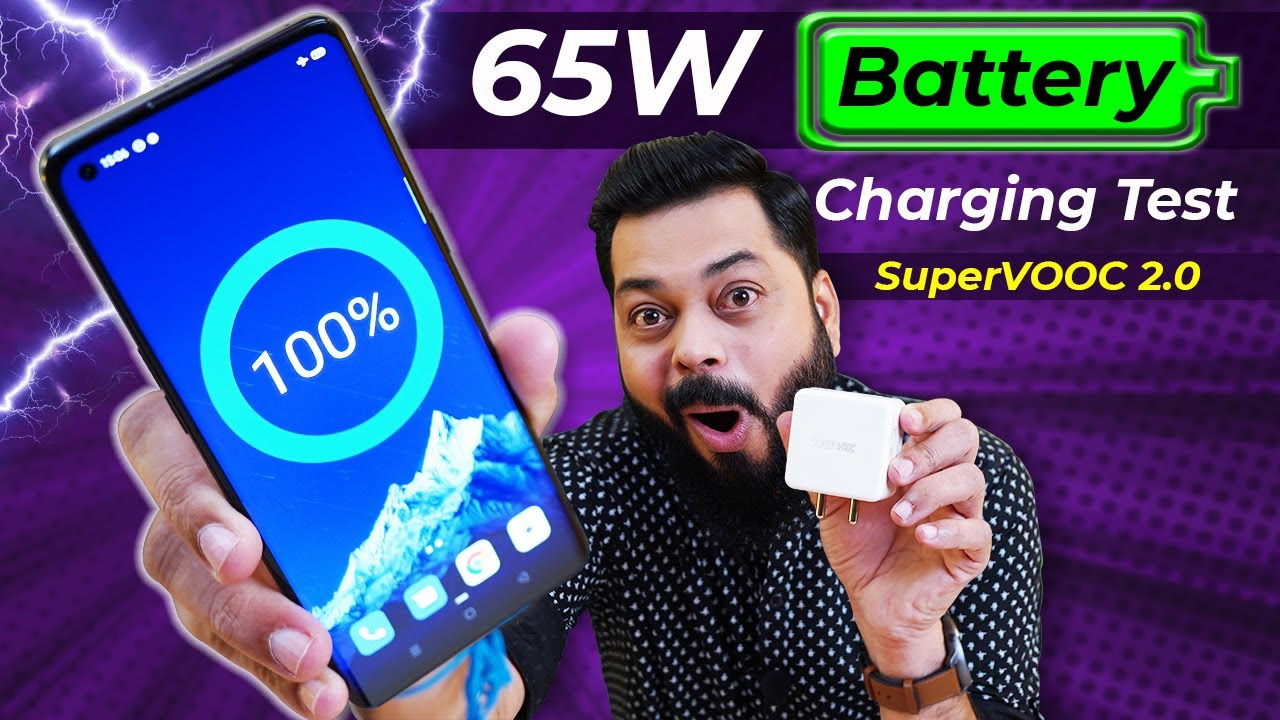 OPPO Reno 4 Pro 65W Full Charging Test ⚡⚡⚡ 0 to 100% in Just 3X Mins!!