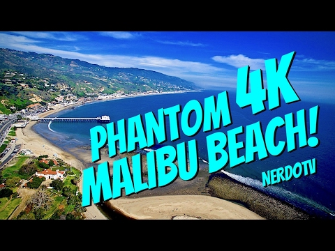 MALIBU BEACH with DJI DRONE in 4K