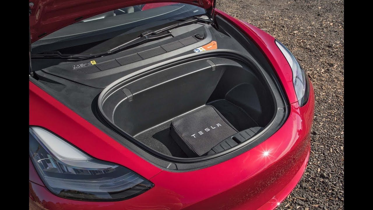 Tesla model 3 trunk pictures