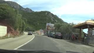 Voznja pored mora magistralom od budve do bara - crnogorska obala