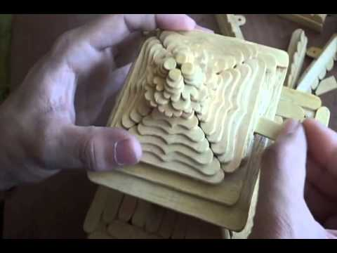 Icecream Stick Arts Popsicle Stick Art Temple Youtube