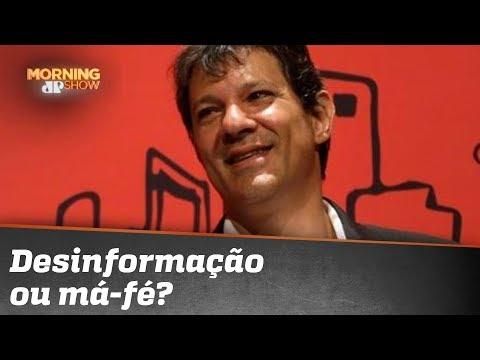 Haddad, sobre salário mínimo de Bolsonaro: desinformação ou má-fé? Caio Coppolla pergunta.