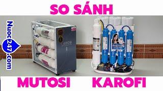 So sánh Karofi Slim Ss038 vs Mutosi Mp371U Mp390U - Máy lọc nước để Gầm tủ nào cho Gia đình Bạn 247✅