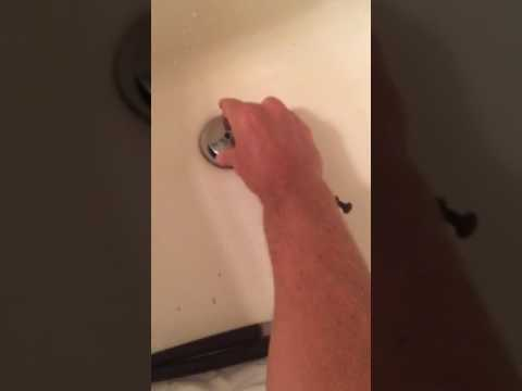 How to remove bath tub stopper pop up drain cap no set screw or flat