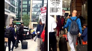 """Scab"" Yankees Break Union Picket Line In Boston"