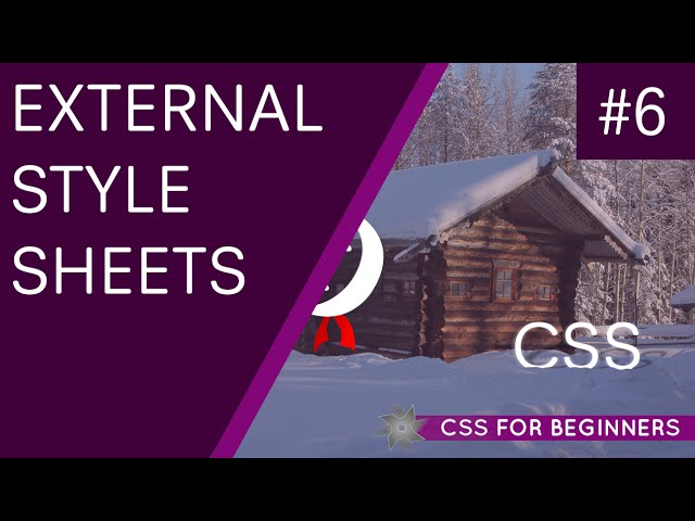 CSS Tutorial For Beginners 06 - External Style Sheets