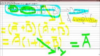 Quartus(B'+B)] ('A+B) [(AB) dan (A')'için blok diyagramı ve dalga formu oluşturmak