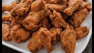 crispy fried chicken wings  -- Cooking A Dream
