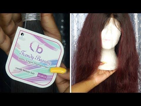 Dye Bundles w/ No Bleach! - Trendy Beauty Hair Unboxing + Coloring - 동영상