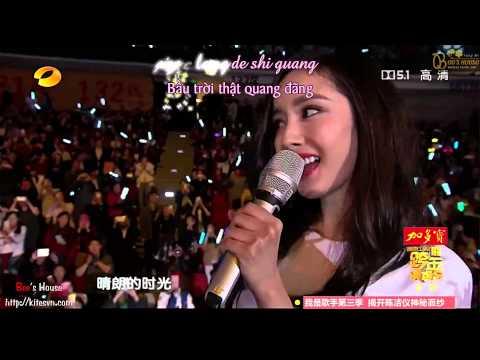 [Vietsub + Kara] Em muốn hát cho anh nghe - Dương Mịch ft Lưu Khải Uy