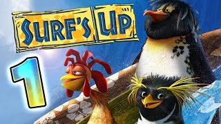 Surf's Up Walkthrough Part 1 ♒ (PS3, X360, Wii, PS2, GCN, PC) ♒ ∿∿∿∿