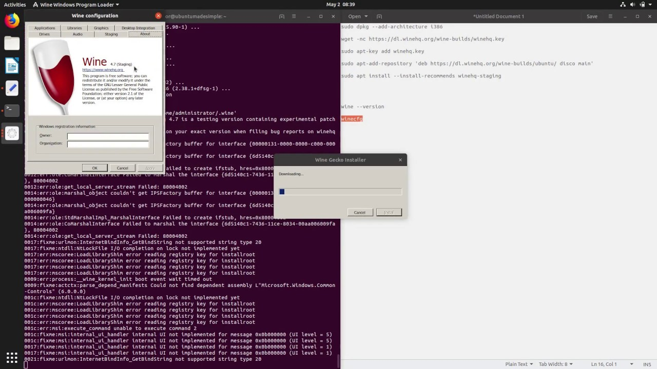 How to install Wine Staging on Ubuntu 19 04