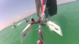 F18 WildCat Catamaran GoPro Sailing HUN144 @ Lake Balaton /TEST VIDEO SHORT VERSION/