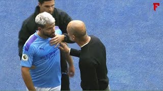 Famous Players Angry After Substitution - ft Aguero and Guardiola, Ronaldo, Hazard