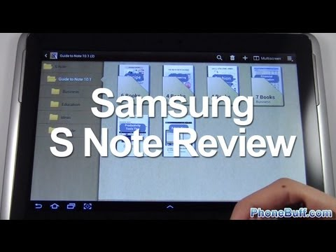 S Note App Review On Samsung Galaxy Note 10.1