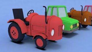 Мультик про машинки. Трактор, машинка, на покрасочной станции. МанкиМульт
