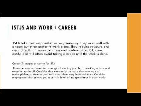 ISTJ Personality Types And Careers