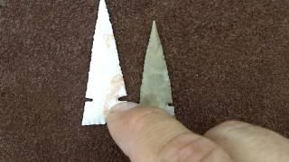 262 Vlog Very Thin Cahokia Arrowhead Compared to Harrell
