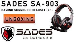 Sades SA-903 7.1 Surround Gaming Headset - unter Windows 10 - UNBOXING & Test, deutsch