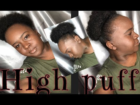 4c Natural hair puff |quick|easy | simple| Everyday puff