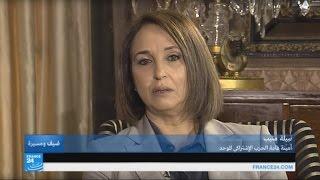 ...نبيلة منيب الأمينة العامة للحزب الاشتراكي الموحد في